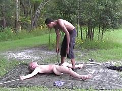 bound slave white boy own