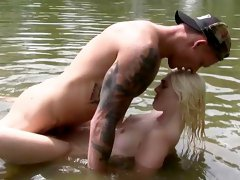 Outdoor nature fun leads to great sex for Lovita Fate