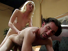 Hot sex For A Guy With A Blonde Tranny