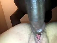 Hardcore interracial doggy style banging scene with amateur slut