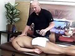 Adventurous slim shemale's feet worshipped by a horny bald dude