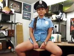 Police officer pawns her stuff and boned