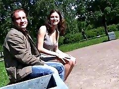ashley c, bella flashing in a park