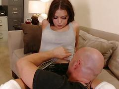 Bitch gets her asshole fingered while riding guy&039s dick