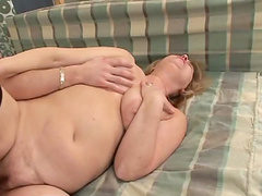 Mature blonde's fucked silly by a guy's thick cock