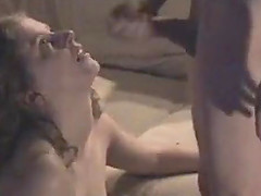 He makes her wife bend over the couch and slaps her sexy round ass