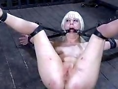 Poor blonde woman is ready for anything even pain BDSM