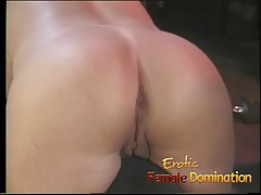 Busty dominatrix surrenders herself to a friend in a bdsm se