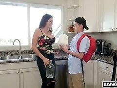 Kinky stepson fucks mega busty Colombian step mommy Ariella Ferrera