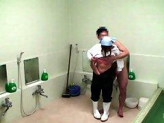 Milf Fucks Man In The Bathroom - MilfsInJapan