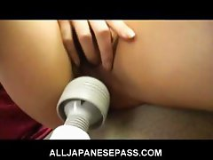 Serina Hayakawa Lovely Japanese doll shows off her hot pussy