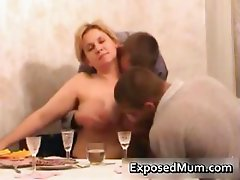 Mom participates in hot threesome after part3