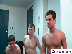 Two straight guys getting gay hazed under shower part5