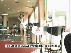 Monica amaing redhead girl walks in a diner