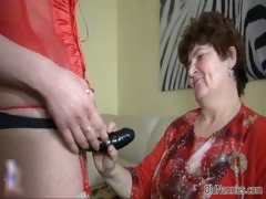 Nasty old woman goes crazy making out part6