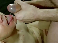 bald twink sucking a big cock