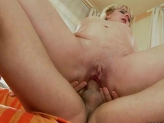 Grandma enjoys hot massage and sex