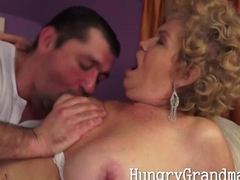 Chubby natural granny Gina needs to gag