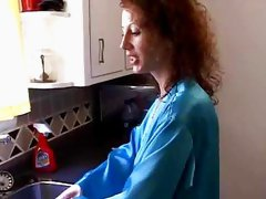 MILF Gets Fucked In Kitchen - Mature sex video
